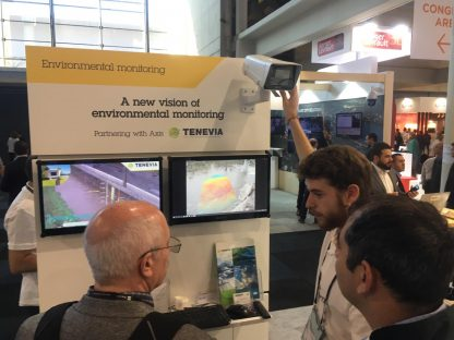 Smart City stand TENEVIA Environmental monitoring