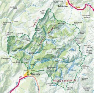 Carte du Val d'Arly